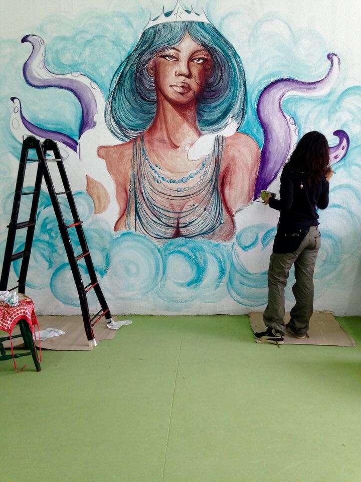 Murale in corso di realizzazione