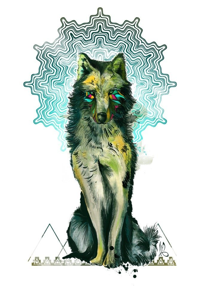 The Wolf spirit have big appetite for freedom, sharp intelligence and deep strong connection with instincts and intuition. Can be represent also a perceived threat or a lack of trust in someone or in yourselfs